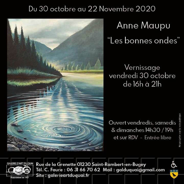 affiche expo Anne Maupu